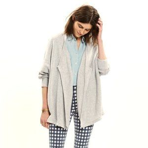 Madewell • Gray Seabank Oversized Sweater Cardigan
